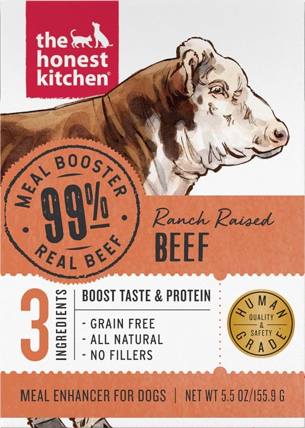 The Honest Kitchen Dog Food Meal Booster - 99% Beef (5.5oz)