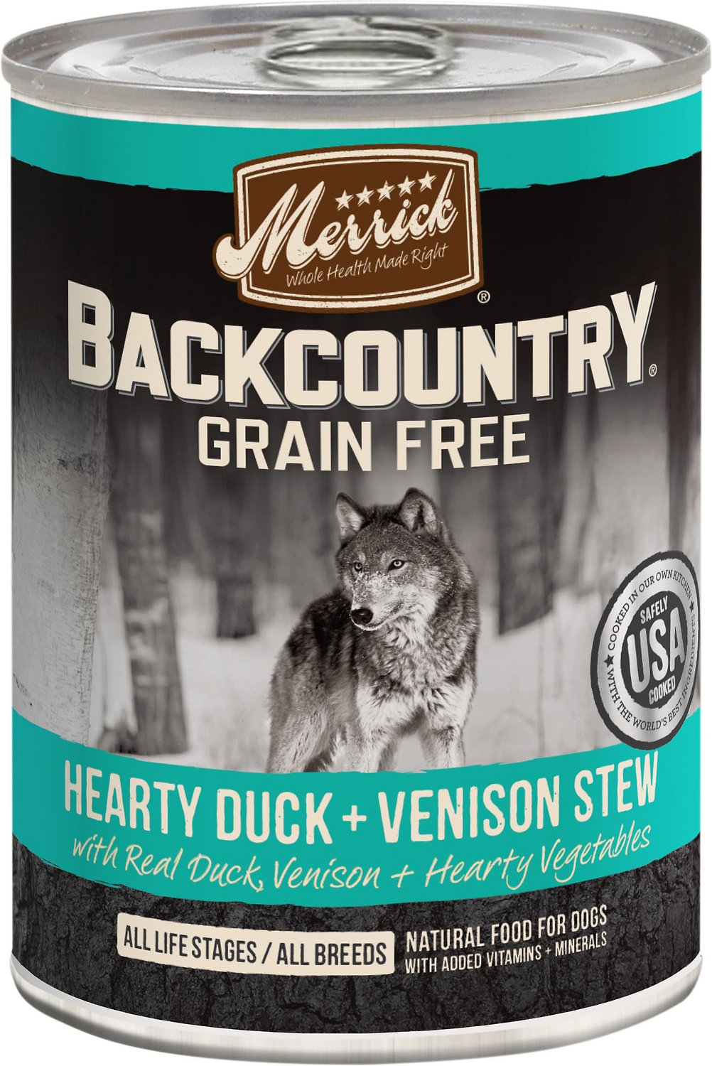 Merrick Backcountry Duck & Venison Stew Canned Dog Food (12.7oz)