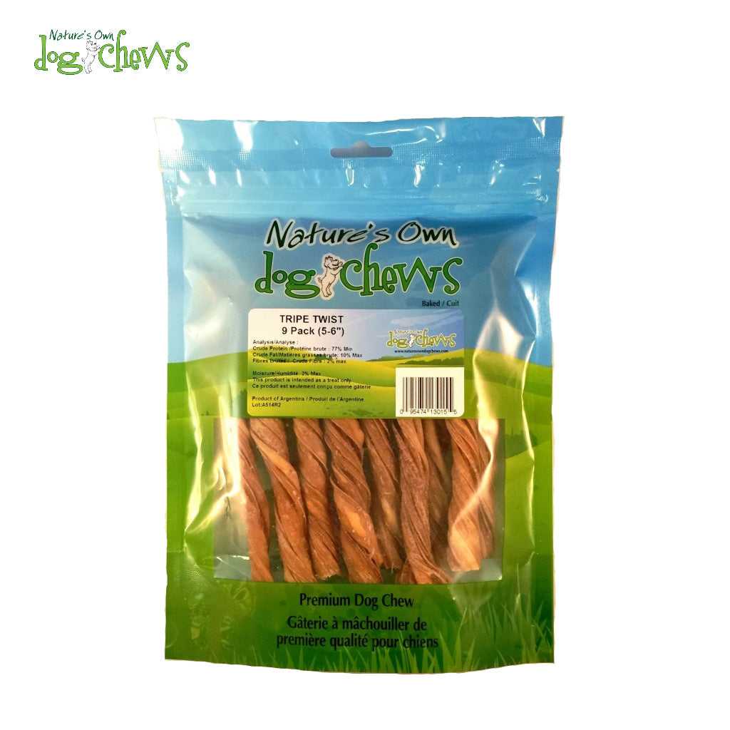 "Nature's Own 6"" Odourfree Tripe Twists (9/pk)"