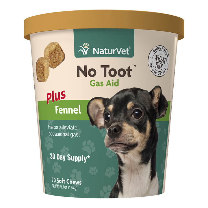 NaturVet Dog Soft Chew No Toot Gas Aid (70ct)