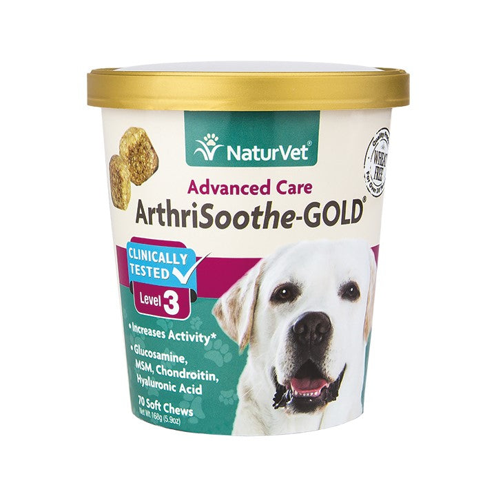 NaturVet Dog ArthriSoothe-Gold Advanced Care Soft Chews