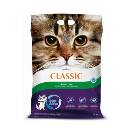 Intersand Premium Clumping Cat Litter -Northern Forest  (14kg/30lb)
