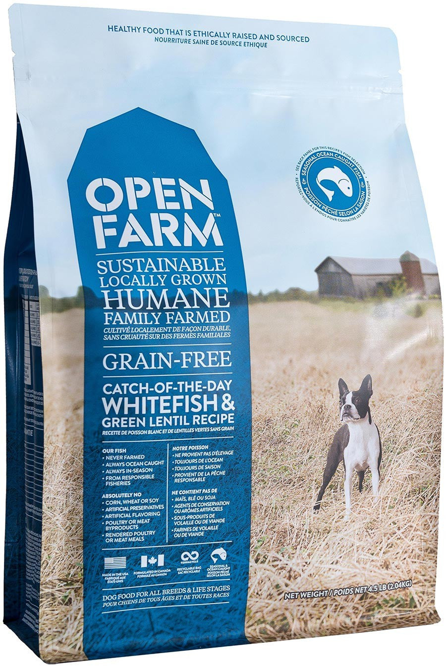 Open Farm Whitefish & Green Lentil Dog Food