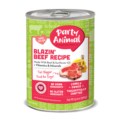 Party Animal Blazin' Beef Canned Dog Food (13oz)