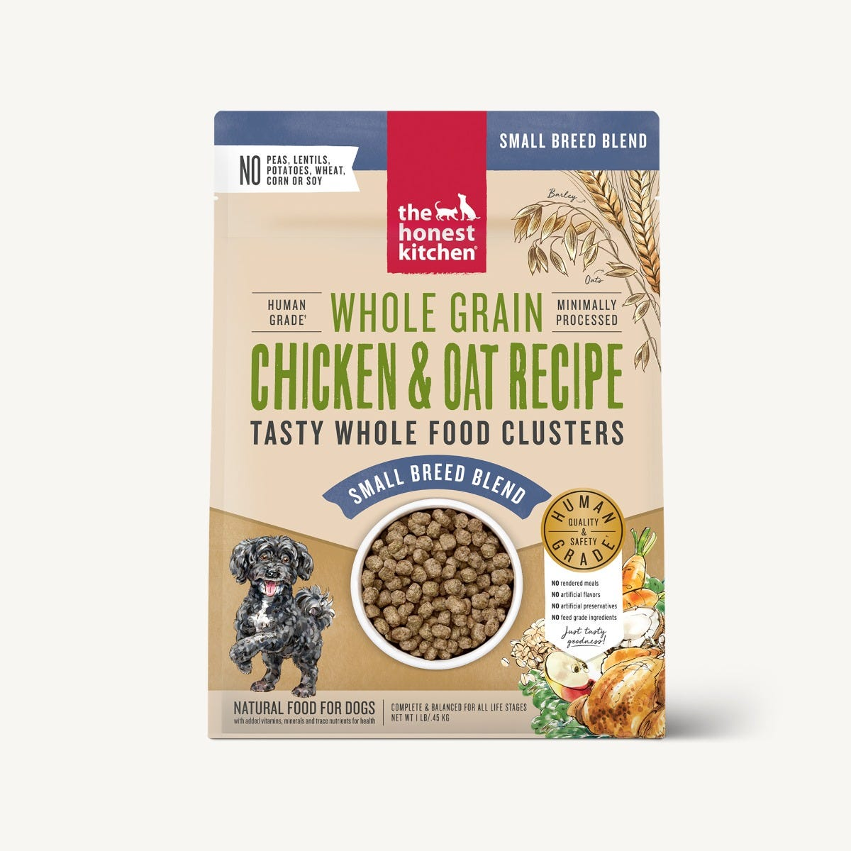 The Honest Kitchen Whole Food Clusters - Whole Grain Chicken & Oat Small Breed Adult Dog Food