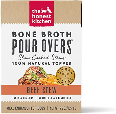 The Honest Kitchen Dog Pour Over Bone Broth & Beef Stew 5.5oz