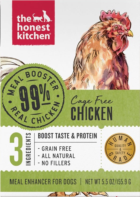 The Honest Kitchen Dog Food Meal Booster - 99% Chicken (5.5oz)