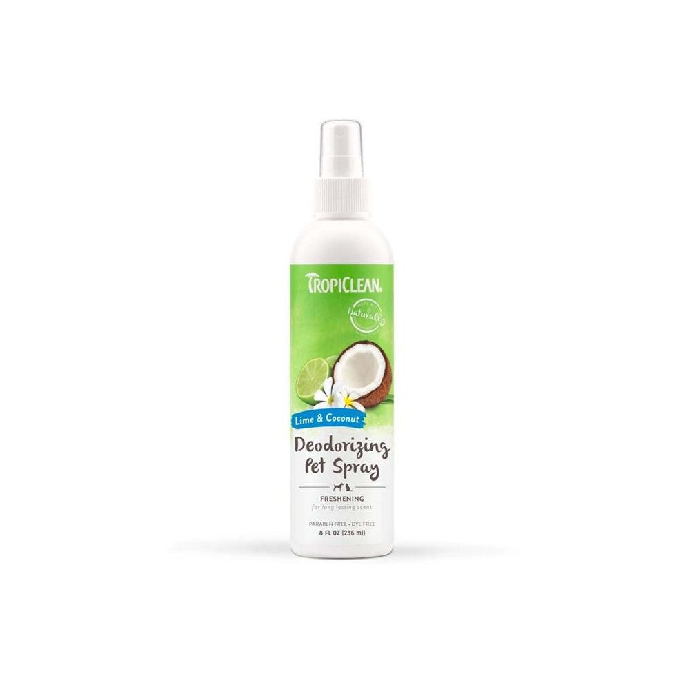 Tropiclean Lime and Coconut Deodorizing Pet Spray (8oz)