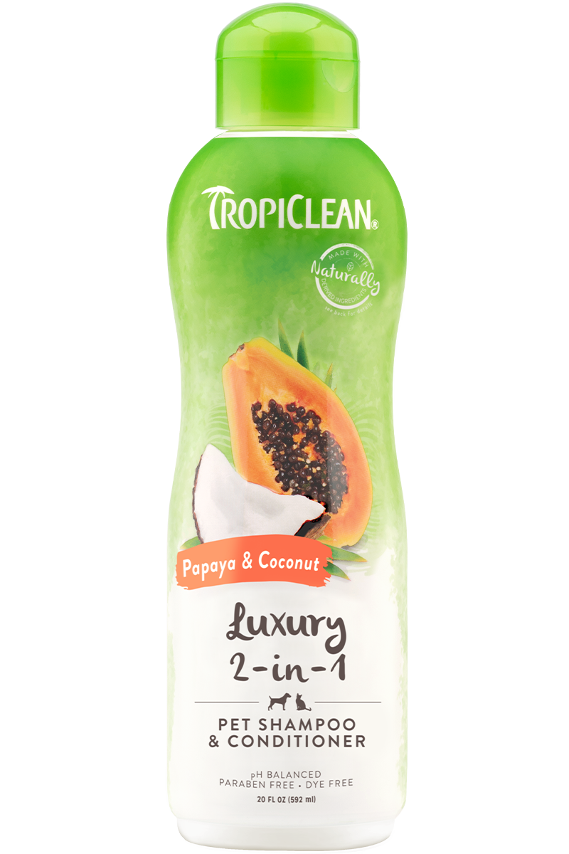 Tropiclean Papaya and Coconut 2-in-1  Shampoo & Conditioner  20oz