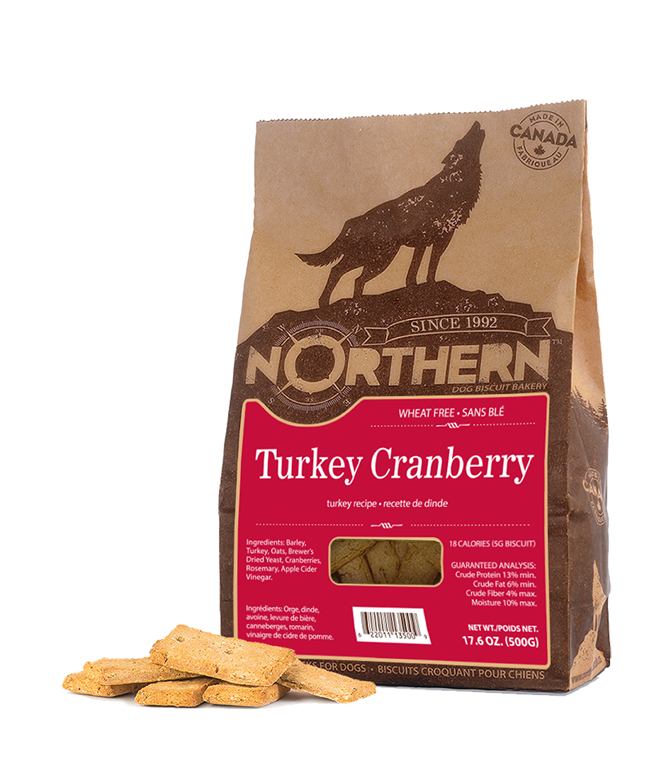 Northern Biscuit Wheat Free Dog Treats - Turkey Cranberry (500g)