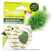 Define Planet Straw Feather Bird Cat Toy