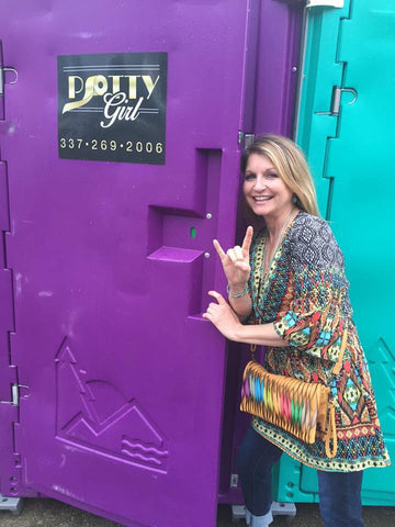 Potty Girl Mardi Gras Portable Toilets