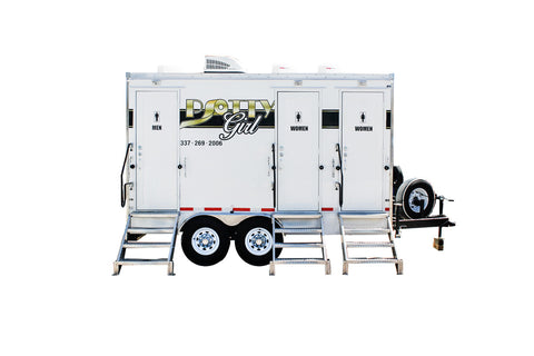 3 Station Rich Restroom Trailer Rental