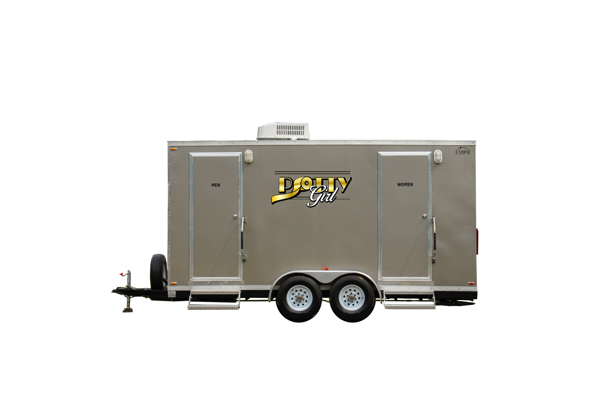 6 Station Comforts of Home Restroom Trailer Rental - PottyGirl