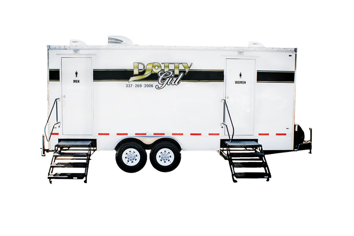 6 Station Rich Restroom Luxury Trailer Rental - PottyGirl