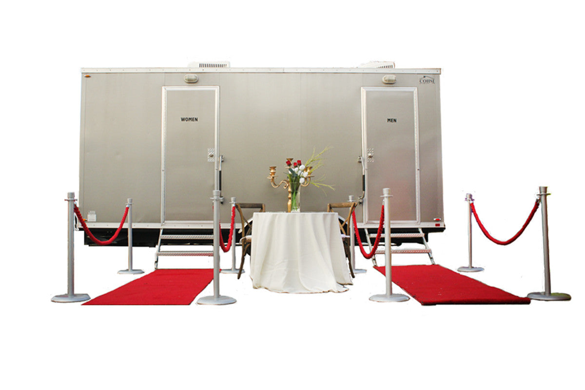 7 Station Comforts of Home Luxury Restroom Trailer Rental - PottyGirl