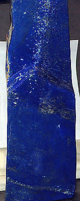 Afghan Lapis Lazuli lapidary 15.2 lbs Polished Carved dark blue, pyrites - radiantrocksct