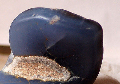 Malawi Blue Chalcedony lapidary lightly polished rough 5.2 oz cabochon or facet