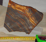 Australian thin banded marramamba rough 15.2 lbs tiger eye /ironstone lapidary