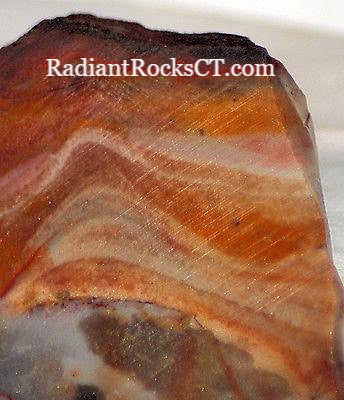 Serape Lace agate Lapidary Slab 4.6 oz Great colors /patterns 130 grams - radiantrocksct