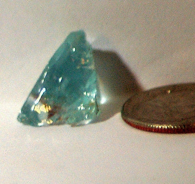 Light Blue Aquamarine 6.5 carat facet rough - radiantrocksct