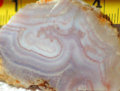 Arizona Burro Creek Purple Banded Agate 0.7 oz Lapidary heel slab (20 gms)