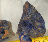 Namibian Sodalite lapidary  rough 14oz total beautiful blue and  salmon material - radiantrocksct