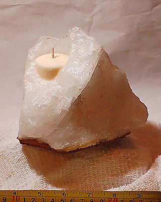 White Quartz Candle Gentle natural glow