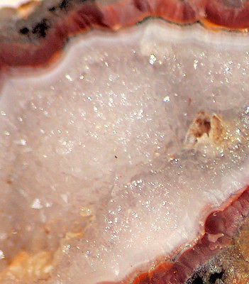Agua Nueva agate Lapidary  6.8oz wedge Druzy and banding (193 grams) - radiantrocksct
