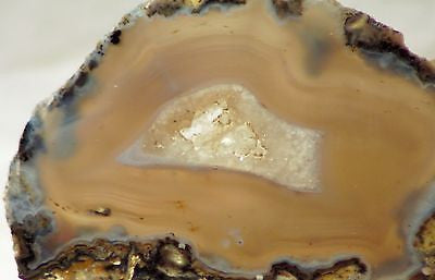 Las Choyas Coconut Geode BlueGrey Chalcedony slab 2.8oz (79 gram) crystal center - radiantrocksct