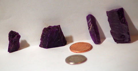 Gel Sugilite 94 carats facet rough - radiantrocksct