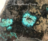 Arizona Chrysocolla heel slab 2.6 oz (75 grams) - radiantrocksct