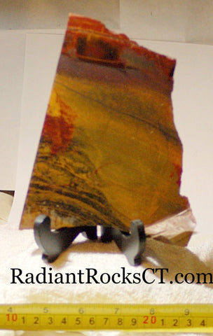 Australian Marramamba tiger eye /ironstone lapidary slab 10.0 oz (280 grams) - radiantrocksct