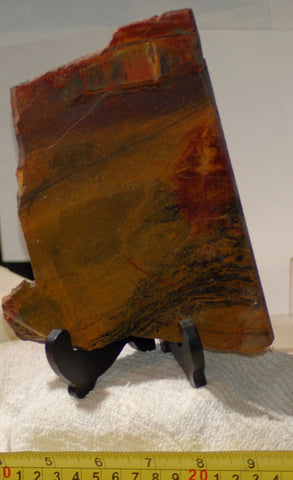 Australian Marramamba tiger eye /ironstone lapidary slab 10.2 oz (285 grams) - radiantrocksct