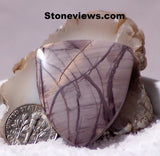 Purple Grey Imperial Jasper Freeform Cabochon 54 carats great patterns and color - radiantrocksct