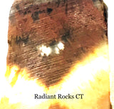 Indo Flame, Indonesian Sagenite Agate lapidary slab 2.2 ounces (60 grams) - radiantrocksct