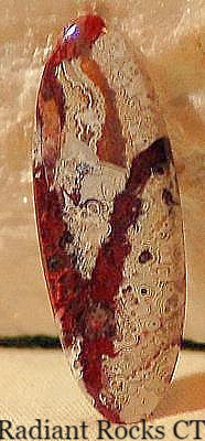 Red Crazy Lace Agate Cabochon 19 carats - radiantrocksct