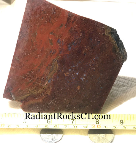 Oregon Maury Mountain Moss Agate Slab 8.2 oz (235 grams) - radiantrocksct