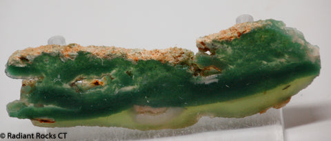 Zimbabwe Mtorolite chrome green gemmy chalcedony slab  1.6 oz (50 grams) .