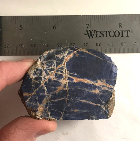 Namibian Sodalite lapidary faced rough 3.8 oz  (105 grams) - radiantrocksct