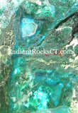 Ray Mine Chrysocolla Malachite Agate slab 8.0 oz (225 grams) - radiantrocksct