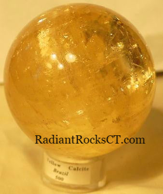 Yellow Calcite Sphere