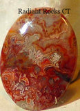 Red Crazy Lace Agate Cabochon