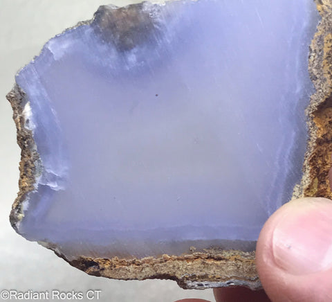 Turkish Blue Chalcedony Lapidary Slab - Radiant Rocks CT