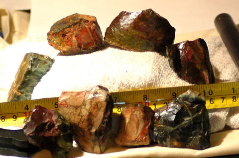 Morrisonite Picture Porcelain Jasper 8 pieces rough 16 oz (460 grams) - radiantrocksct