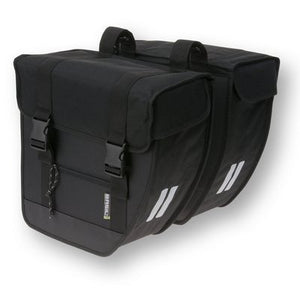 basil tour double bike bag black