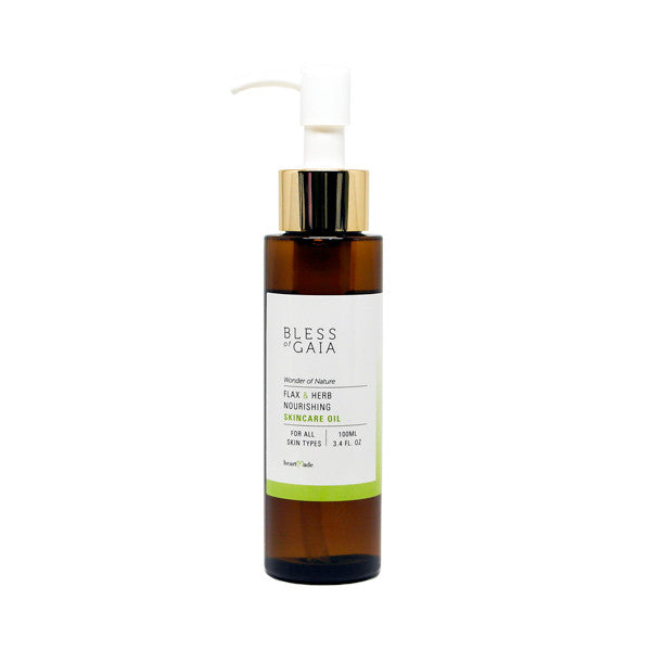 Bless of Gaia Flax & Herb Nourishing Skincare Oil