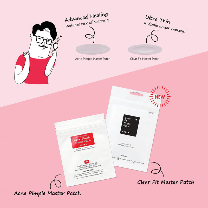Acne Pimple Master Patch x2 & Clear Fit Master Patch x1 [3 Packs]