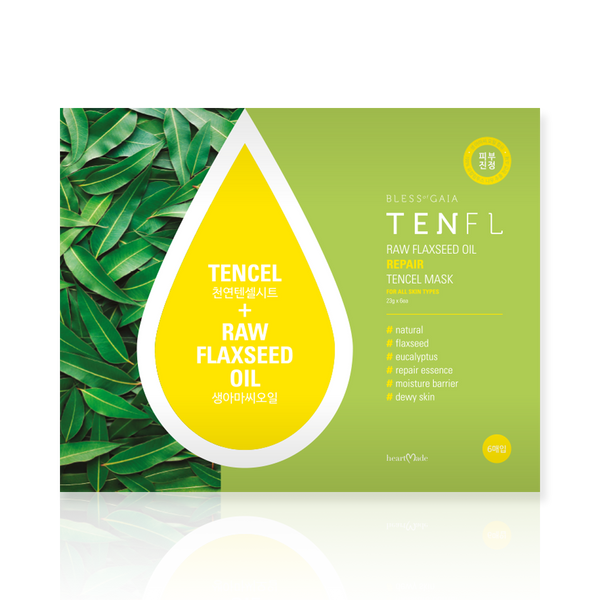 heartmade Tenfl Raw Flaxseed Oil Repair Tencel Mask Set [6 Masks] - Hikoco - Korean Beauty, Skincare, Makeup, Products in New Zealand - 1
