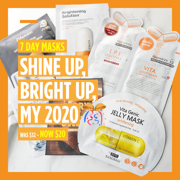 "7-Day Masks - ""Shine up, Bright up, My 2020 🎊"" [7 Masks]"